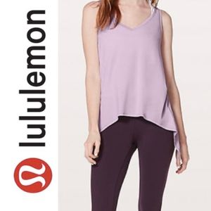 Lululemon Watch Me Flip  Tank  Lavender